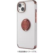 AC-P21-MR PK [iPhone 13用 メタリックフレーム リング付きクリアバックカバー ピンク]