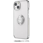 AC-P21-MR SL [iPhone 13用 メタリックフレーム リング付きクリアバックカバー シルバー]