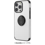 AC-P21P-MR BK [iPhone 13 Pro用 メタリックフレーム リング付きクリアバックカバー ブラック]