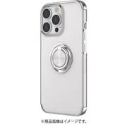AC-P21P-MR SL [iPhone 13 Pro用 メタリックフレーム リング付きクリアバックカバー シルバー]
