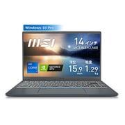 PRESTIGE14A11SC-3106JP [4K液晶・高性能GPU搭載 薄型・軽量ビジネス・クリエイターノートPC 14インチ/インテル Core i7-1195G7/NVIDIA GeForce GTX 1650 Max-Q デザイン/メモリ 32GB/SSD 512GB/Windows 10 Pro]