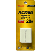 YDC-ACUC20ADWH [ヨドバシカメラオリジナル AC充電器 20W Power Delivery対応 自動判別機能付 ホワイト]