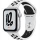 Apple Watch Nike SE(GPSモデル)- 40mmシルバーアルミニウムケースとピュアプラチナム/ブラックNikeスポーツバンド [MKQ23J/A]