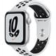Apple Watch Nike SE(GPSモデル)- 44mmシルバーアルミニウムケースとピュアプラチナム/ブラックNikeスポーツバンド [MKQ73J/A]