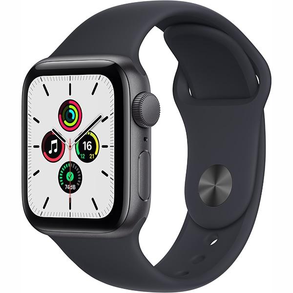 Apple Watch SE(GPSモデル)- 40mmスペースグレイアルミニウムケースとミッドナイトスポーツバンド [MKQ13J/A]
