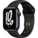 Apple Watch Nike Series 7(GPS + Cellularモデル)- 41mmミッドナイトアルミニウムケースとアンスラサイト/ブラックNikeスポーツバンド - レギュラー [MKJ43J/A]