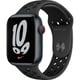 Apple Watch Nike Series 7(GPS + Cellularモデル)- 45mmミッドナイトアルミニウムケースとアンスラサイト/ブラックNikeスポーツバンド - レギュラー [MKL53J/A]