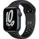 Apple Watch Nike Series 7(GPSモデル)- 45mmミッドナイトアルミニウムケースとアンスラサイト/ブラックNikeスポーツバンド - レギュラー [MKNC3J/A]