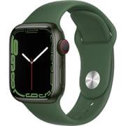 Apple Watch Series 7(GPS + Cellularモデル)- 41mmグリーンアルミニウムケースとクローバースポーツバンド - レギュラー [MKHT3J/A]