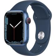 Apple Watch Series 7(GPS + Cellularモデル)- 41mmブルーアルミニウムケースとアビスブルースポーツバンド - レギュラー [MKHU3J/A]