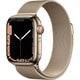 Apple Watch Series 7(GPS + Cellularモデル)- 41mmゴールドステンレススチールケースとゴールドミラネーゼループ [MKJ03J/A]