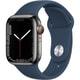 Apple Watch Series 7(GPS + Cellularモデル)- 41mmグラファイトステンレススチールケースとアビスブルースポーツバンド - レギュラー [MKJ13J/A]