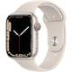 Apple Watch Series 7(GPS + Cellularモデル)- 45mmスターライトアルミニウムケースとスターライトスポーツバンド - レギュラー [MKJQ3J/A]