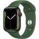 Apple Watch Series 7(GPS + Cellularモデル)- 45mmグリーンアルミニウムケースとクローバースポーツバンド - レギュラー [MKJR3J/A]