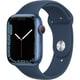 Apple Watch Series 7(GPS + Cellularモデル)- 45mmブルーアルミニウムケースとアビスブルースポーツバンド - レギュラー [MKJT3J/A]