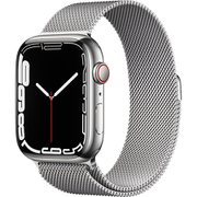 Apple Watch Series 7(GPS + Cellularモデル)- 45mmシルバーステンレススチールケースとシルバーミラネーゼループ [MKJW3J/A]