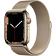 Apple Watch Series 7(GPS + Cellularモデル)- 45mmゴールドステンレススチールケースとゴールドミラネーゼループ [MKJY3J/A]