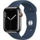 Apple Watch Series 7(GPS + Cellularモデル)- 45mmグラファイトステンレススチールケースとアビスブルースポーツバンド - レギュラー [MKL23J/A]