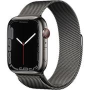 Apple Watch Series 7(GPS + Cellularモデル)- 45mmグラファイトステンレススチールケースとグラファイトミラネーゼループ [MKL33J/A]