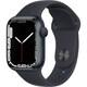 Apple Watch Series 7(GPSモデル)- 41mmミッドナイトアルミニウムケースとミッドナイトスポーツバンド - レギュラー [MKMX3J/A]