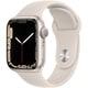 Apple Watch Series 7(GPSモデル)- 41mmスターライトアルミニウムケースとスターライトスポーツバンド - レギュラー [MKMY3J/A]