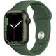 Apple Watch Series 7(GPSモデル)- 41mmグリーンアルミニウムケースとクローバースポーツバンド - レギュラー [MKN03J/A]
