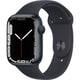 Apple Watch Series 7(GPSモデル)- 45mmミッドナイトアルミニウムケースとミッドナイトスポーツバンド - レギュラー [MKN53J/A]