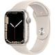 Apple Watch Series 7(GPSモデル)- 45mmスターライトアルミニウムケースとスターライトスポーツバンド - レギュラー [MKN63J/A]