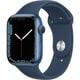 Apple Watch Series 7(GPSモデル)- 45mmブルーアルミニウムケースとアビスブルースポーツバンド - レギュラー [MKN83J/A]