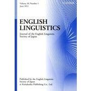 ENGLISH LINGUISTICS Volume30 N [全集叢書]