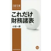 これだけ財務諸表(日経文庫) [新書]