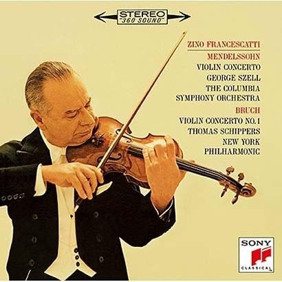 ジノ・フランチェスカッティ/メンデルスゾーン、チャイコフスキー ブルッフ、ラロ、シベリウス:ヴァイオリン協奏曲集