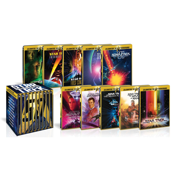 スター・トレック I-X 劇場版ブルーレイ50周年記念BOX スチールブック仕様 [Blu-ray Disc]