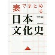表でまとめる日本文化史 [単行本]
