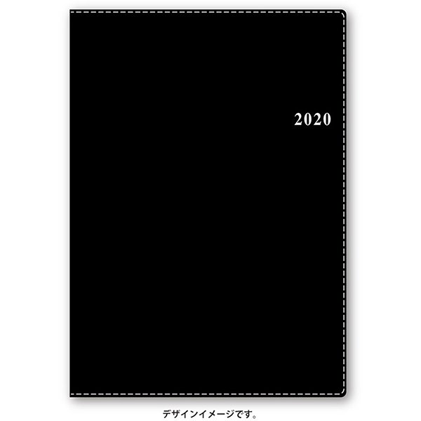6235 NOLTY ベルノA5バーチカル2(黒) [2020年1月始まり]