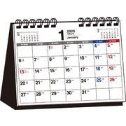 書き込み式月曜始まりシンプル卓上カレンダーB6ヨコ 2020 [単行本]