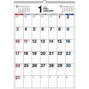2021年 書き込み式シンプルカレンダー B3タテ【K11】 [単行本]