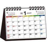 2021年 シンプル卓上カレンダー B6ヨコ/カラー【T7】 [単行本]