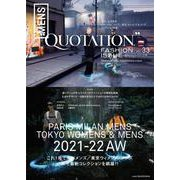 QUOTATION FASHION ISSUE WORLD MENS COLLECTION 2021-2022 AW VOL.33 [単行本]