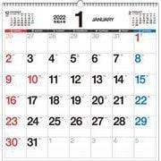 2022年 書き込み式シンプルカレンダー B2変型 【K19】 [単行本]