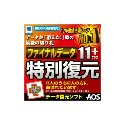 ファイナルデータ11plus 特別復元版 ダウンロード版 [Windowsソフト ダウンロード版]