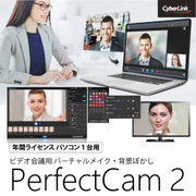 PerfectCam 2 (1年版)/ビデオ会議用 バーチャルメイク・背景ぼかし [Windowsソフト ダウンロード版]
