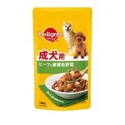 マース ジャパン リミテッド ペディグリー P101 成犬用旨みビーフ&緑黄色野菜130g ドッグフード ウェット [30個入り]