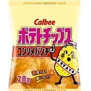 カルビー ポテトチップス コンソメパンチ 28g [菓子 1ケース 24袋]