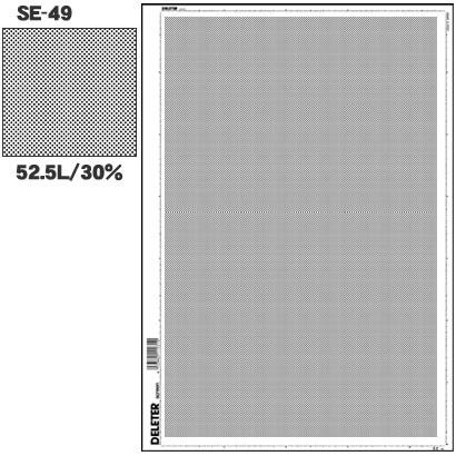 デリーター SE-49 「スクリーントーン デリータースクリーン アミ点 52.5L 30%」 [5セット]