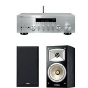 同時購入お買い得セット [ヤマハ R-N803(S) ネットワークレシーバー シルバー+NS-B330(B) ブックシェルフスピーカー ハイレゾ音源対応 ブラック]