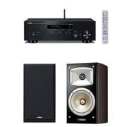 同時購入お買い得セット [ヤマハ R-N303(B) ネットワークレシーバー ブラック+NS-B330(MB) ブックシェルフスピーカー ハイレゾ音源対応 ウォルナット 2台1組]