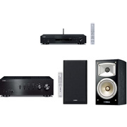 同時購入お買い得セット [ヤマハ 「NP-S303(B)ネットワークプレーヤー ハイレゾ対応 ブラック」+「NS-B330(B)ブックシェルフスピーカー ハイレゾ音源対応 ブラック」+「A-S301(B)プリメインアンプ ブラック ハイレゾ音源対応」]