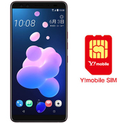 ワイモバイル×SIMフリースマホ セットキャンペーン [HTC エイチティーシー HTC U12+ フレームレッド 「SIMフリースマートフォン」 と Y!mobile nano SIMのセット(要回線契約)]
