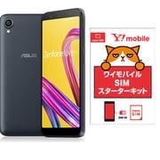ワイモバイルセットでお得キャンペーン [ASUS エイスース ZA550KL-BK32 「Zenfone Live L1 Series SIMフリースマートフォン ミッドナイトブラック」 とY!mobile「nano SIM スターターキット」のセット]
